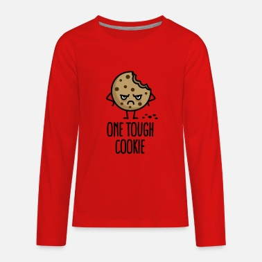 Hustlers Ambition Quotes One tough cookie - Kids' Premium Long Sleeve T-Shirt