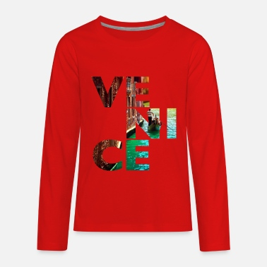 Canal Venice Gondolier canal - Kids' Premium Long Sleeve T-Shirt