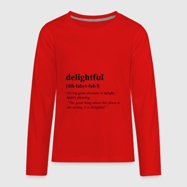 Delightful - Kids' Premium Long Sleeve T-Shirt