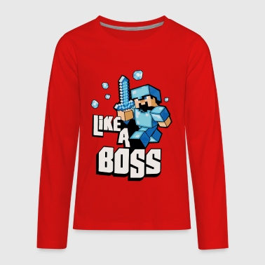 Like A Boss - Kids' Premium Long Sleeve T-Shirt