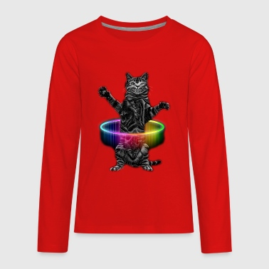 HULA HOOP CAT - Kids' Premium Long Sleeve T-Shirt