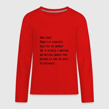 The Binary is False - Kids' Premium Long Sleeve T-Shirt