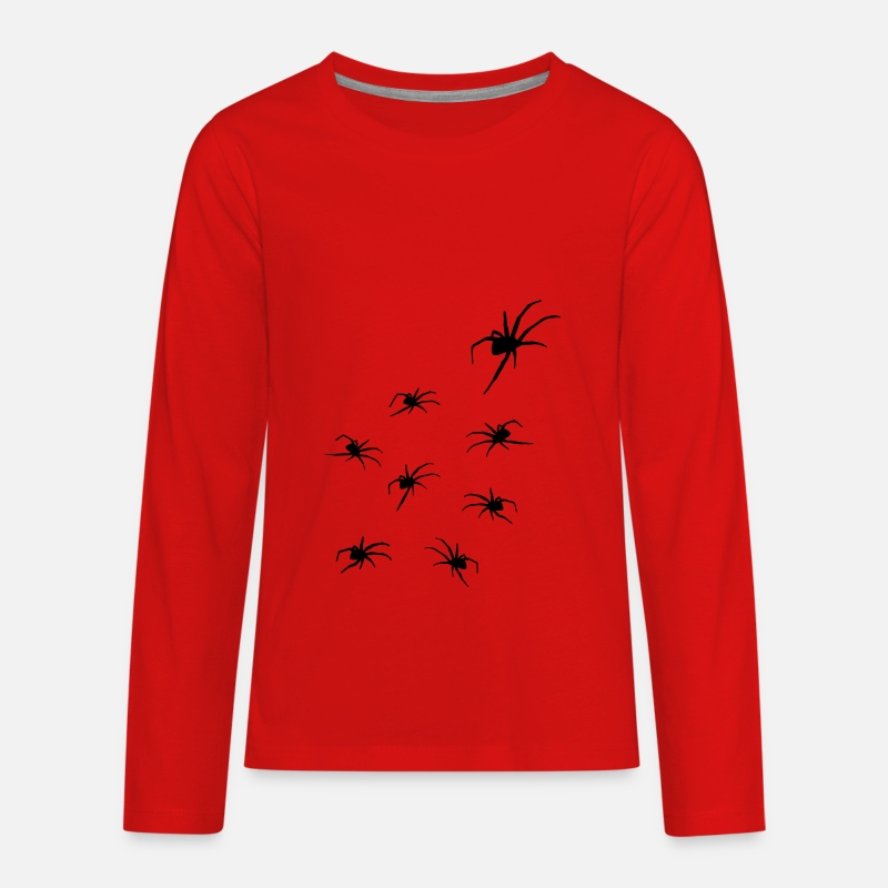 Spider T-Shirts - Spiders, Spider Horror - Kids' Premium Longsleeve Shirt red