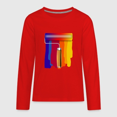 Brush Roller - Kids' Premium Long Sleeve T-Shirt