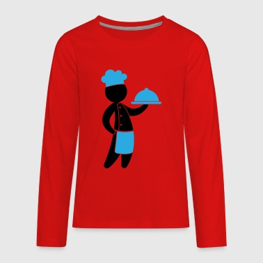 A Gourmet Chef Serves Guests - Kids' Premium Long Sleeve T-Shirt