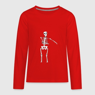 Swish Swish Dance Skeleton - Kids' Premium Long Sleeve T-Shirt
