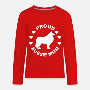 Kids Aussie Aussie Mom Dog Gift - Kids' Premium Long Sleeve T-Shirt