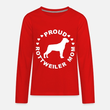 Rottweiler Dog Gift Rottweiler Dog Mom Gift - Kids' Premium Long Sleeve T-Shirt