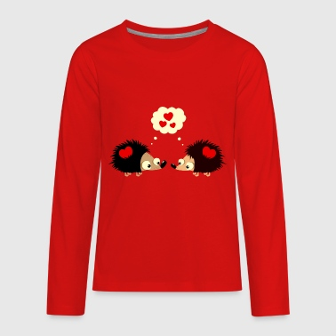 Hedgehogs fall in love - Kids' Premium Long Sleeve T-Shirt