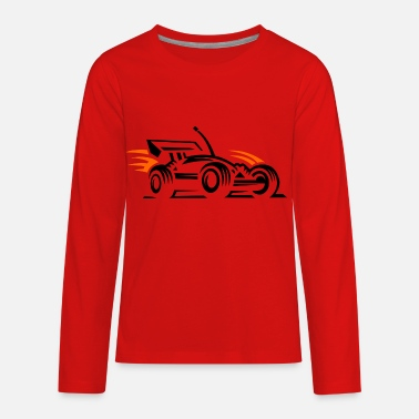 Racing Car racing car - Kids' Premium Longsleeve Shirt