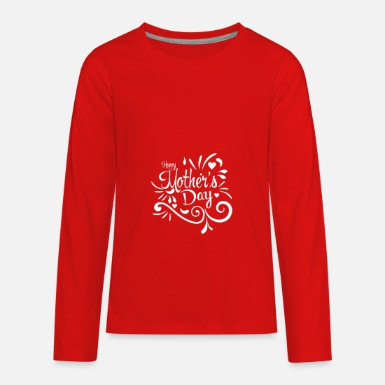 Birthday Long-Sleeve Shirts - Mother - Kids' Premium Longsleeve Shirt red