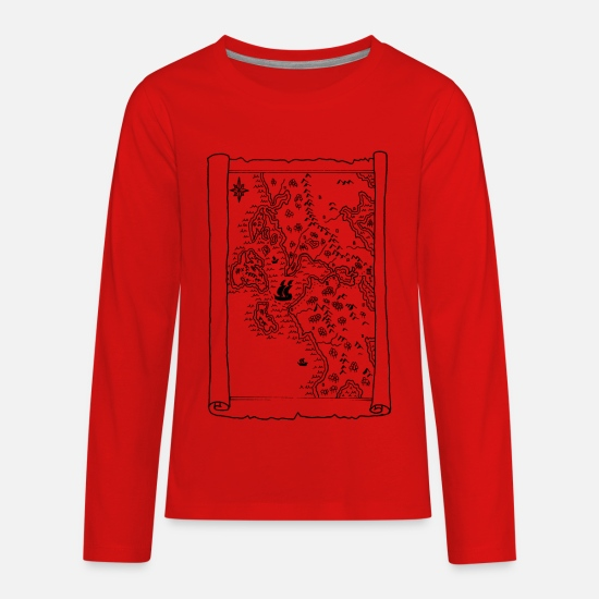 Fantasy T-Shirts - fantasy map - Kids' Premium Longsleeve Shirt red