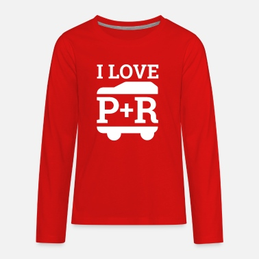 I Love Park and Ride and driving RV! Travel Shirt - Kids' Premium Long Sleeve T-Shirt