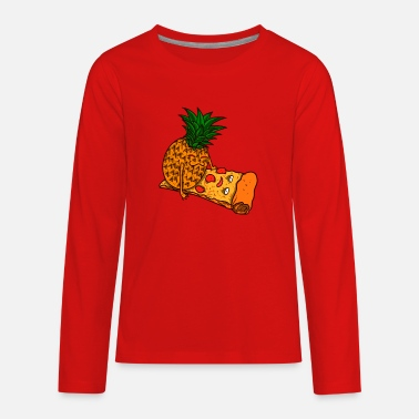 Fan Sex Pizza Hawaii Pineapple Sex Gift - Kids' Premium Longsleeve Shirt