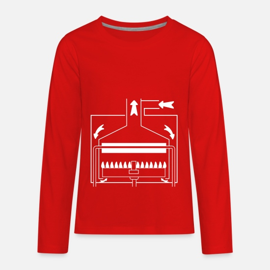 Chambers Long-Sleeve Shirts - Boiler with a sealed chamber - Kids' Premium Longsleeve Shirt red
