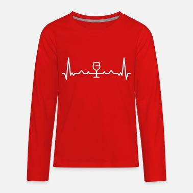White Wine Heartbeat Wine White - Kids' Premium Longsleeve Shirt