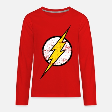 Justice League The Flash Logo Vintage - Kids' Premium Longsleeve Shirt