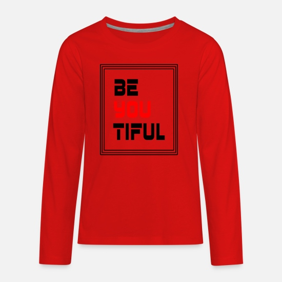 Gift Idea Long-Sleeve Shirts - be yourself - Kids' Premium Longsleeve Shirt red