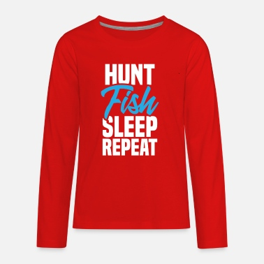 Hunt and Fish - Kids' Premium Longsleeve Shirt