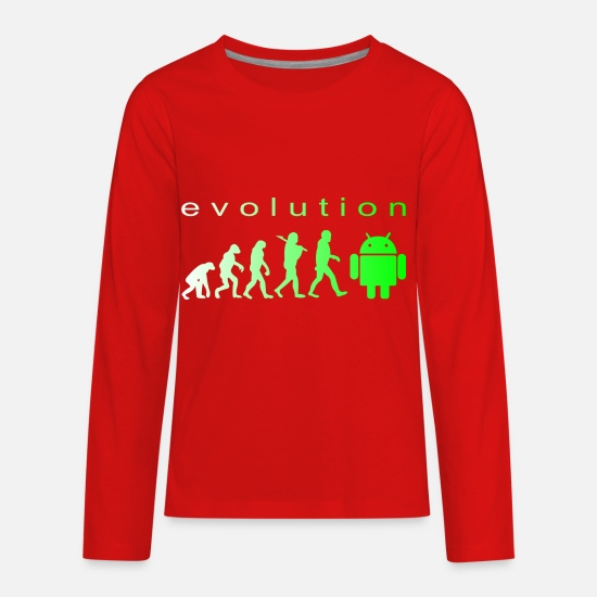 Evolution T-Shirts - evolution - Kids' Premium Longsleeve Shirt red