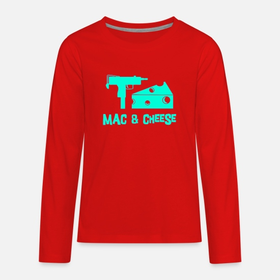 Macbeth Long-Sleeve Shirts - Mac And Cheese - Kids' Premium Longsleeve Shirt red