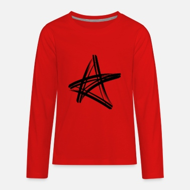 90 Min black star - Kids' Premium Longsleeve Shirt