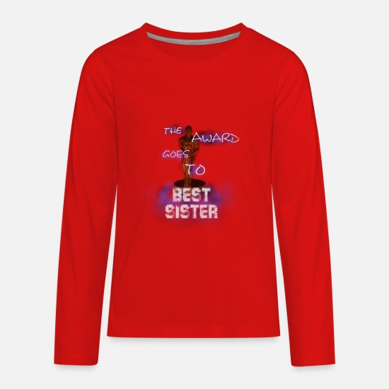 Love T-Shirts - The award goes to best sister - Kids' Premium Longsleeve Shirt red