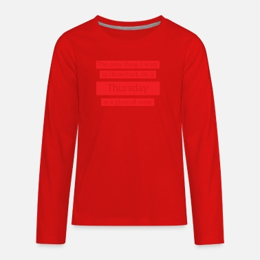 Throwback Throwback Thursday - Kids' Premium Longsleeve Shirt