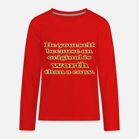 Original Long-Sleeve Shirts - be original - Kids' Premium Longsleeve Shirt red