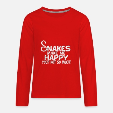 snakes make me happy you not so much usedlook - Kids' Premium Long Sleeve T-Shirt
