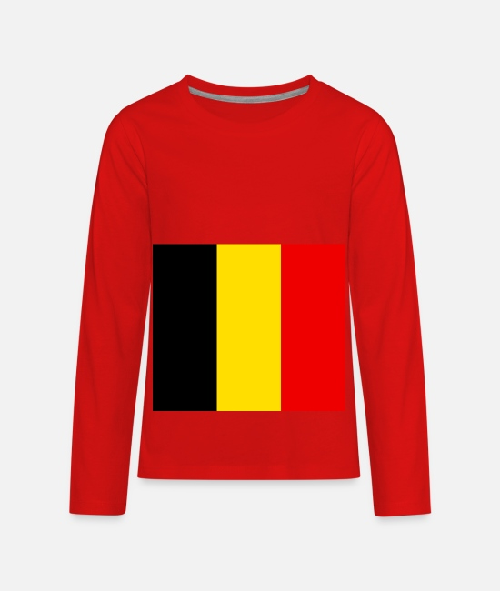 National Long-Sleeved Shirts - Belgium country flag love my land patriot - Kids' Premium Longsleeve Shirt red