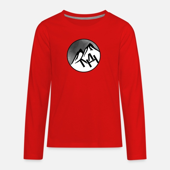 Mountains T-Shirts - MH (Merve Hughes) - Kids' Premium Longsleeve Shirt red