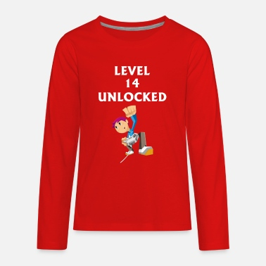Twentyfive GIFT - LEVEL 14 UNLOCKED - Kids' Premium Long Sleeve T-Shirt