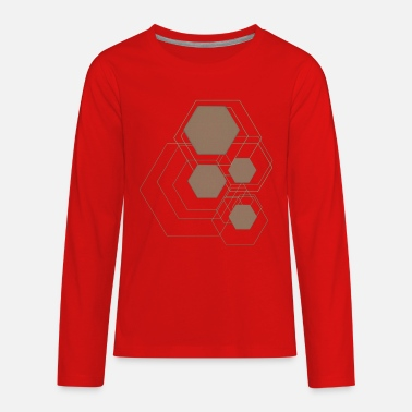 Grafic hexagon grafic gold - Kids' Premium Longsleeve Shirt