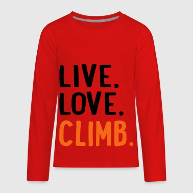 climb - Kids' Premium Long Sleeve T-Shirt