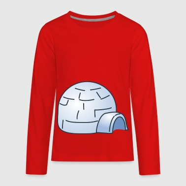 Igloo Eskimo Inuit House Building Ice Gift Present - Kids' Premium Long Sleeve T-Shirt