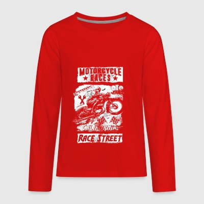 Motorcycle Races - Kids' Premium Long Sleeve T-Shirt