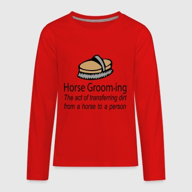 Horse grooming - Kids' Premium Long Sleeve T-Shirt