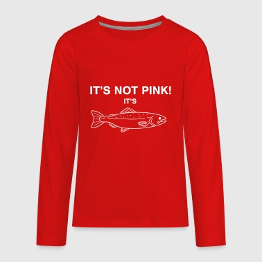It's not pink! It's SALMON - Kids' Premium Long Sleeve T-Shirt