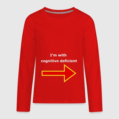 I'm with stupid, (Cognitive deficient) - Kids' Premium Long Sleeve T-Shirt