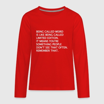 English Limited Edition Saying Quote Funny - Kids' Premium Long Sleeve T-Shirt