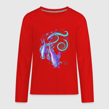Koi Stream - Kids' Premium Long Sleeve T-Shirt