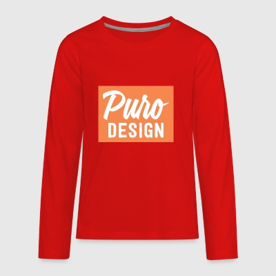 white_logo_color_background - Kids' Premium Long Sleeve T-Shirt