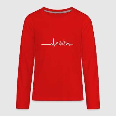EKG HEARTLINE BIKE white - Kids' Premium Long Sleeve T-Shirt