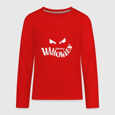 Happy Halloween chalk - Kids' Premium Long Sleeve T-Shirt