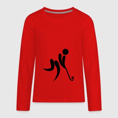 ice hockey eishockey skates schlittschuhe puck hel - Kids' Premium Long Sleeve T-Shirt