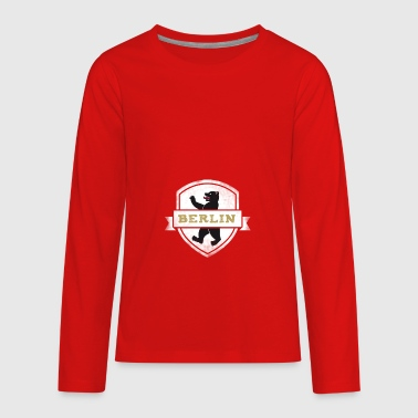 berlin bear coat of arms german capital Europe tri - Kids' Premium Long Sleeve T-Shirt