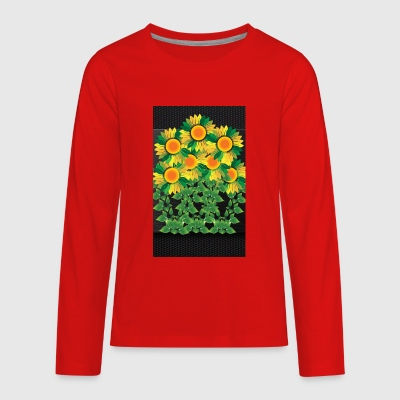 Sunflower bloom - Kids' Premium Long Sleeve T-Shirt