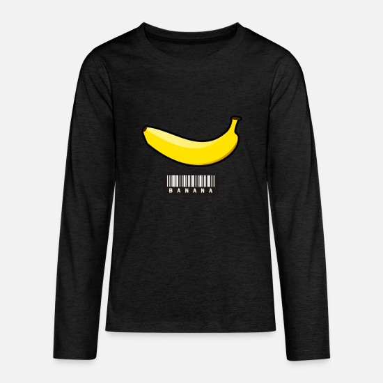 82a5925107eb9 Barcode banana, bananas, yellow, fruity Kids' Premium Longsleeve ...