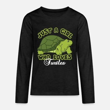 Just A Girl Who Loves Turtles - Kids' Premium Longsleeve Shirt
